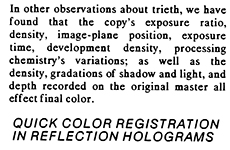 Reflection Hologram Art